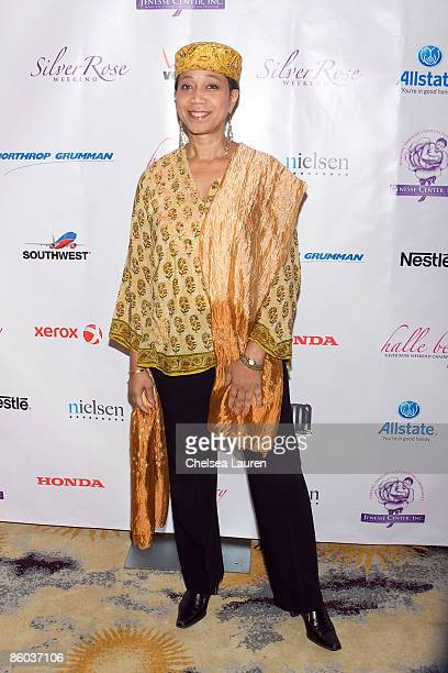 Malcolm X's daughter Ambassador Atallah Shabazz arrives at the 2009 Jenesse Silver Rose Gala Auction at the Beverly Hills Hotel on April 19 2009 in...