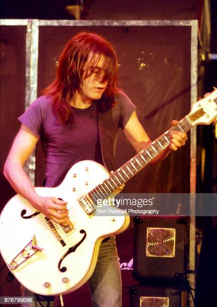 Malcolm Young of AC/DC performing at Buffalo Memorial Auditorium September 27 1978