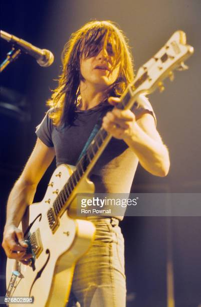 Malcolm Young of AC/DC performing at The Orpheum Theater Boston MA October 9 1980