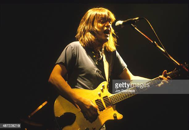 Malcolm Young of the rock band AC/DC performs at the Met Center in Bloomington Minnesota on the Fly On the Wall tour on September 29 1985