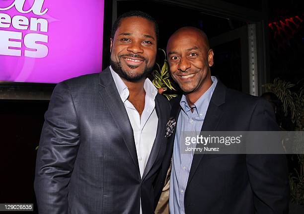 MalcolmJamal Warner and Stephen Hill attend the Reed Between The Lines VIP screening at Bar Basque on October 10 2011 in New York City