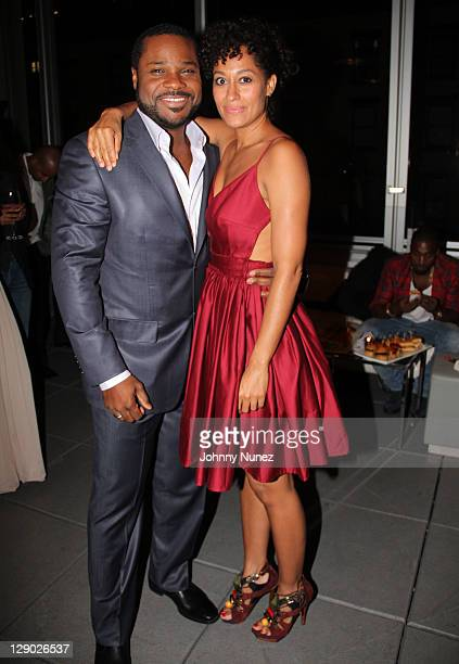 MalcolmJamal Warner and Tracee Ellis Ross attend the Reed Between The Lines VIP screening at Bar Basque on October 10 2011 in New York City