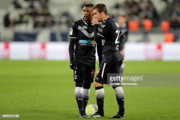 Malcom and Valentin Vada of Bordeaux look on during the Ligue 1 match between FC Girondins de Bordeaux and Montpellier Herault SC at Stade Matmut...