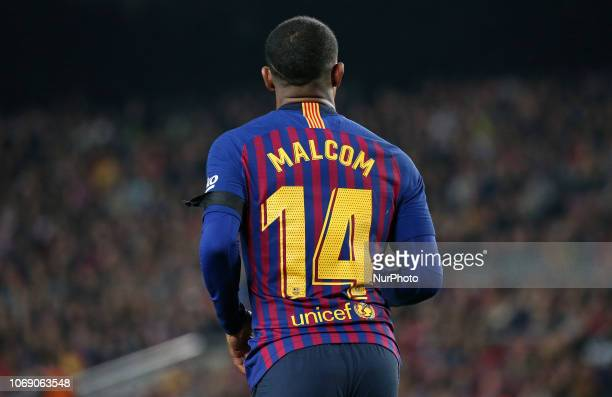 Malcom during the match between FC Barcelona and Cultural Leonesa corresponding to the 1/16 final of the spanish King Cuo played at the Camp Nou...