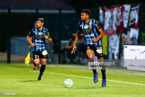 Malcom Edjouma of Chambly during the Ligue 2 match between FC Chambly and Valenciennes FC at Stade Pierre Brisson on July 26 2019 in Beauvais France