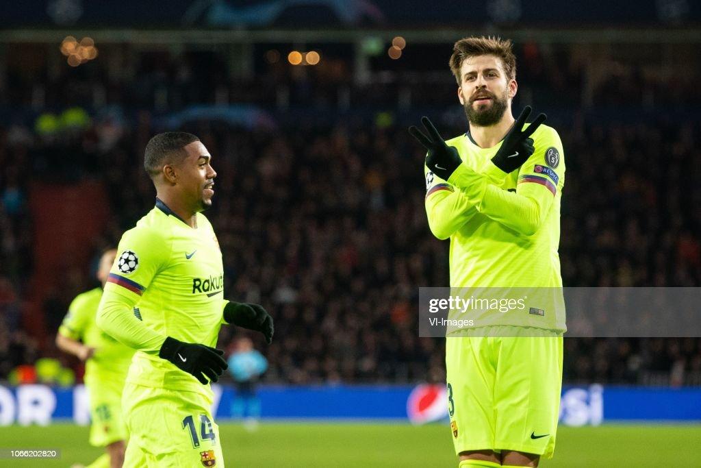"UEFA Champions League""PSV v FC Barcelona"" : News Photo"