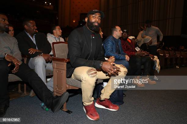 Malcom Jenkins attends Reform Bringing Injustice To Light at Irvine Auditorium on March 13 2018 in Philadelphia Pennsylvania