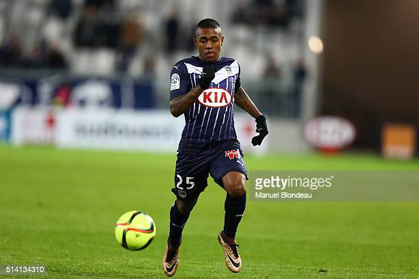 Malcom of Bordeaux during the French Ligue 1 match between FC Girondins de Bordeaux v GFC Ajaccio at Stade Chaban Delmas on March 5 2016 in Bordeaux...