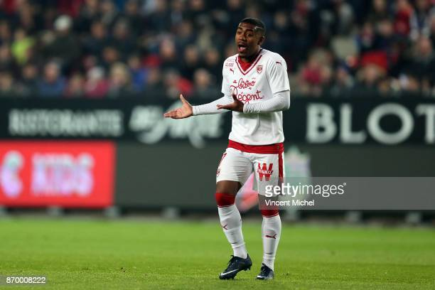 Malcom of Bordeaux during the French Ligue 1 match between Rennes and Bordeaux at Roazhon Park on November 3 2017 in Rennes France