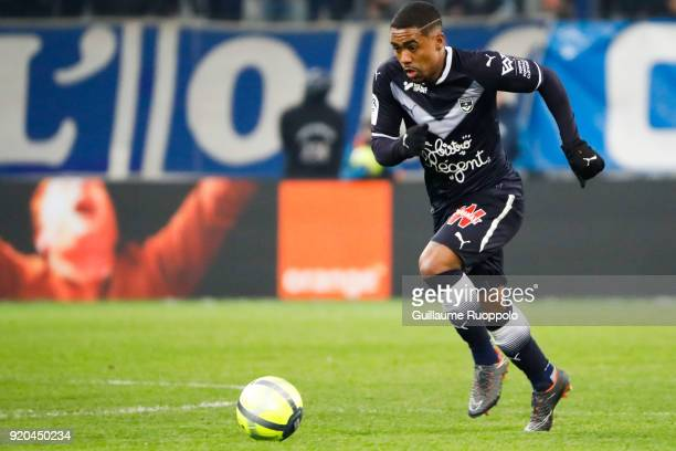 Malcom of Bordeaux during the Ligue 1 match between Olympique Marseille and FC Girondins de Bordeaux at Stade Velodrome on February 18 2018 in...