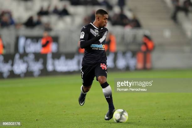 Malcom of Bordeaux in action during the Ligue 1 match between FC Girondins de Bordeaux and Montpellier Herault SC at Stade Matmut Atlantique on...