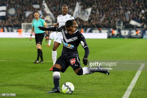 Malcom of Bordeaux of Bordeaux in action during the Ligue 1 match between FC Girondins de Bordeaux and AS SaintEtienne at Stade Matmut Atlantique on...