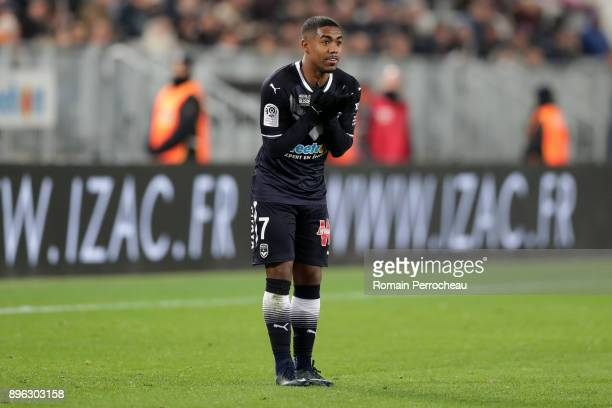 Malcom of Bordeaux reacts during the Ligue 1 match between FC Girondins de Bordeaux and Montpellier Herault SC at Stade Matmut Atlantique on December...