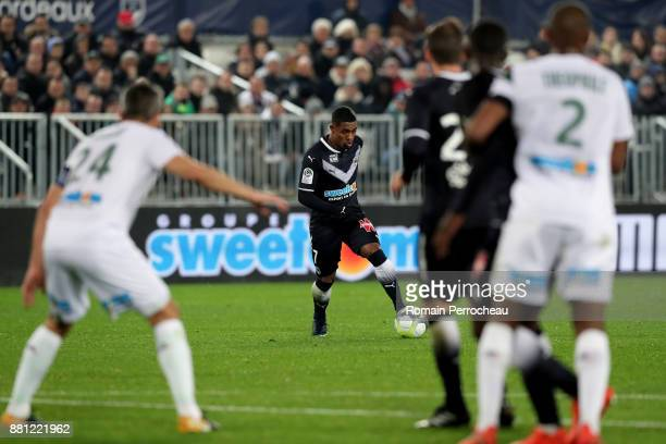 Malcom of Bordeaux scores goal during the Ligue 1 match between FC Girondins de Bordeaux and AS SaintEtienne at Stade Matmut Atlantique on November...