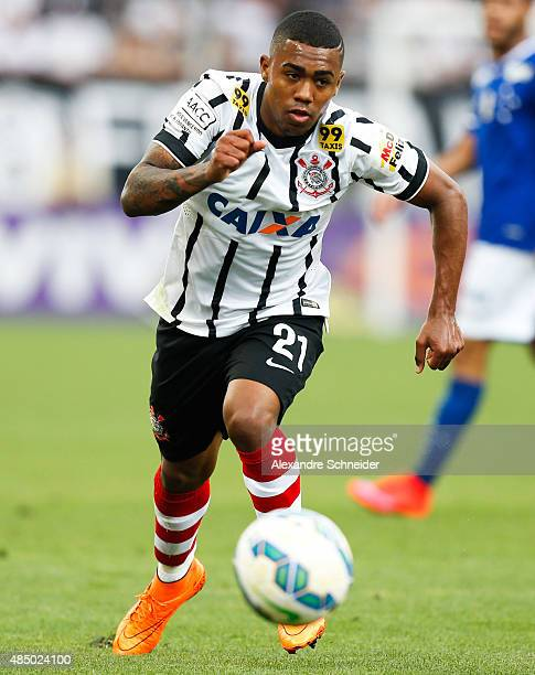 Malcom of Corinthians in action during the match between Corinthians and Cruzeiro for the Brazilian Series A 2015 at Arena Corinthians stadium on...