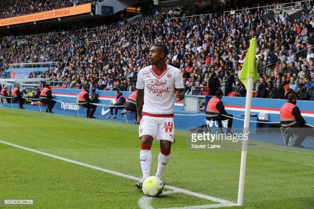 Malcom of FC Girondins de Bordeaux in action during the Ligue 1 match between Paris SaintGermain and FC Girondins de Bordeaux at Parc des Princes on...