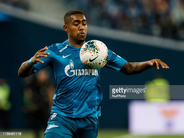 Malcom of FC Zenit Saint Petersburg in action during the Russian Premier League match between FC Zenit Saint Petersburg and FC Krasnodar on August 3,...