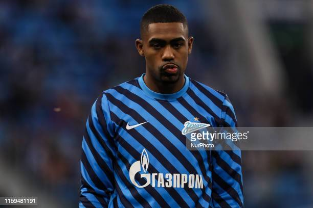 Malcom of FC Zenit Saint Petersburg looks on during the warmup ahead of the Russian Premier League match between FC Zenit Saint Petersburg and FC...