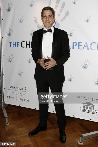 Malcom Pagani arrives for the Children for Peace Gala Dinner at Cardinal Gallery on December 2 2017 in Rome Italy