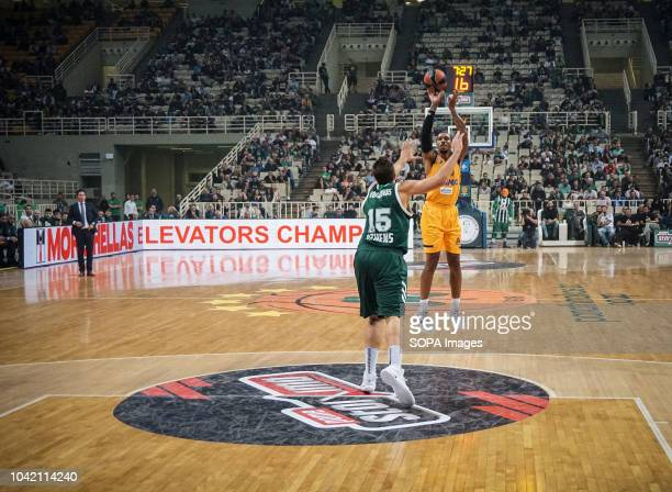 Malcom Thomas of BC Khimki in action during the tournament Pavlos Giannakopoulos between Panathinaikos and Khimki at Athens Olympic Indoor Hall