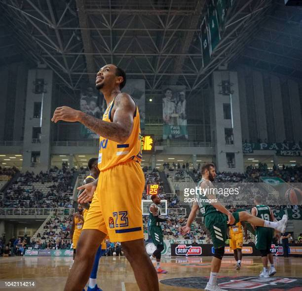 Malcom Thomas of BC Khimki reacts during the tournament Pavlos Giannakopoulos between Panathinaikos and Khimki at Athens Olympic Indoor Hall