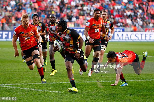 Malcomb Jaer of the Southern Kings during the 2016 Super Rugby match between Southern Kings and Sunwolves at Nelson Mandela Bay Stadium on April 02...