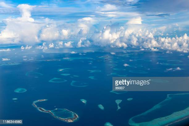 maldives islands - atoll stock pictures, royalty-free photos & images