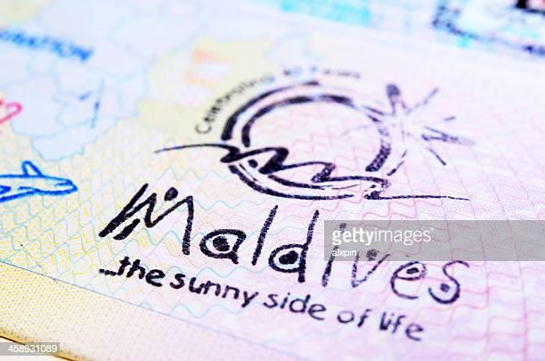 モルディブのパスポートスタンプ