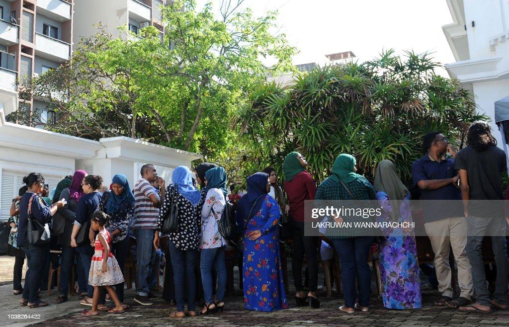 SRI LANKA-MALDIVES-VOTE : News Photo