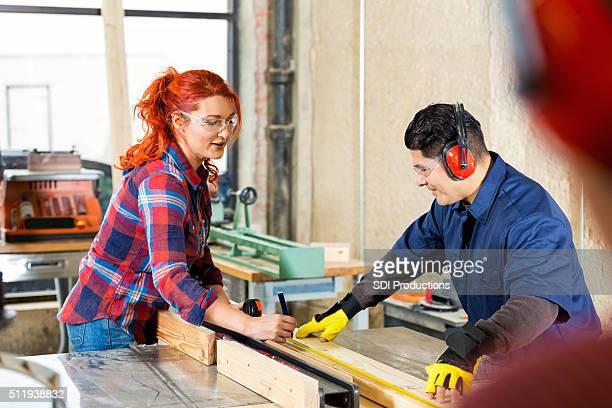 Männliche und weibliche Handwerker Arbeiten an Individuell bestellen