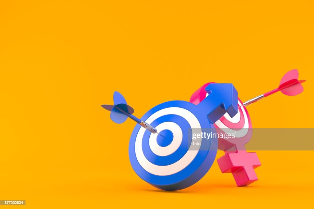 Male And Female Gender Symbol With Bulls Eye Stock Photo Getty Images