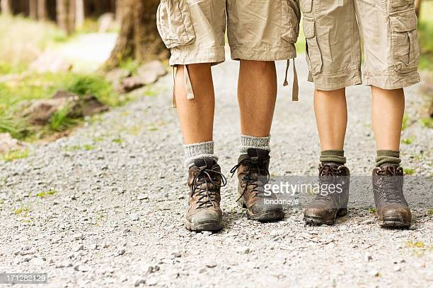 Male And Female Hikers Standing Together
