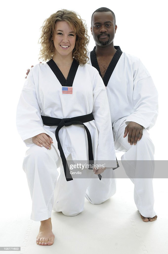 Male And Female Martial Artists High Res Stock Photo Getty Images