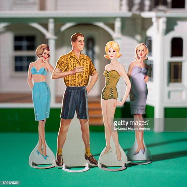 Male and Three Female Paper Dolls