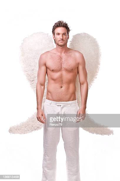male angel - male angel stock photos and pictures