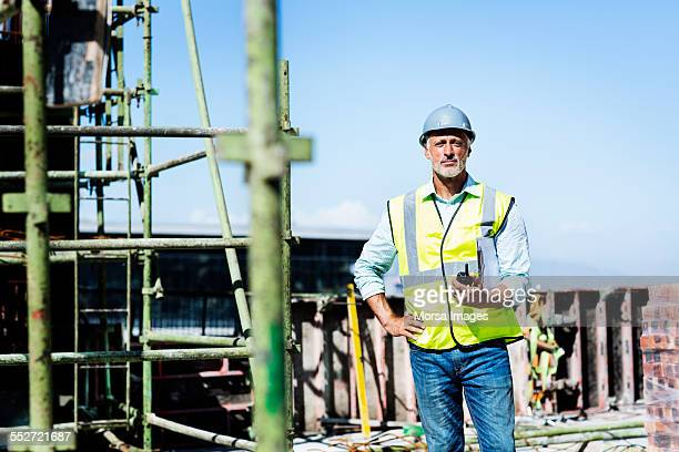 Male architect on construction site
