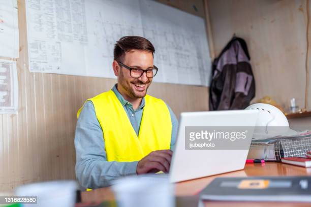 male architect working on project - borough district type stock pictures, royalty-free photos & images