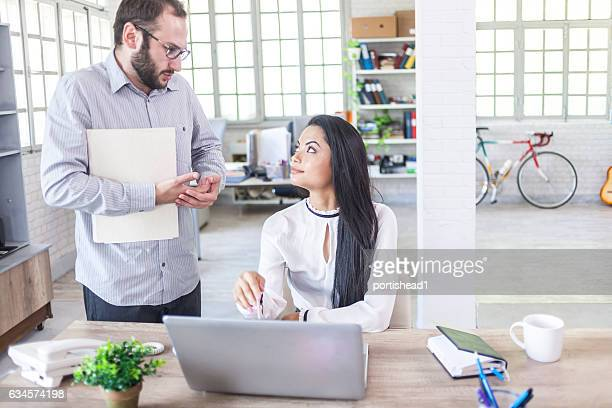 Male assistant having problems with female manager
