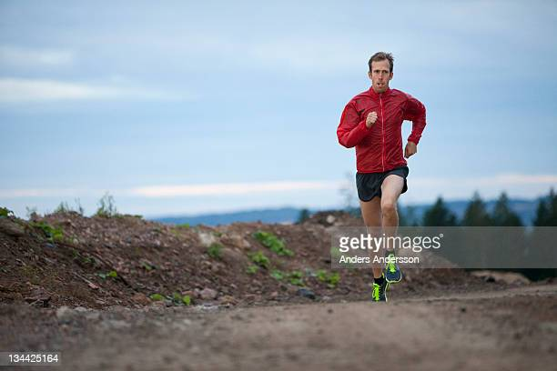 Male athlete cross country runner training