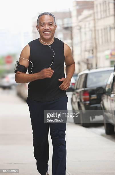 男性アスリートのジョギング道