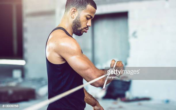 Male Athlete Lifting Weights