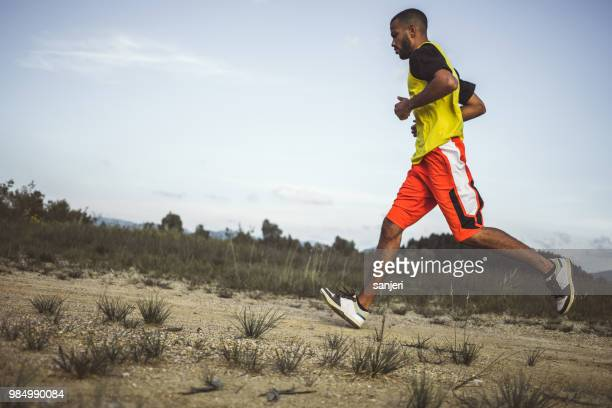 Male Athlete Running Outdoors