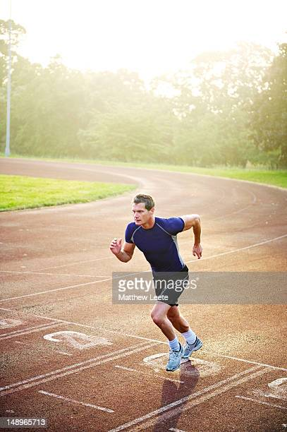 Male athlete running