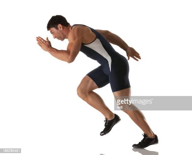 男性アスリートランニング