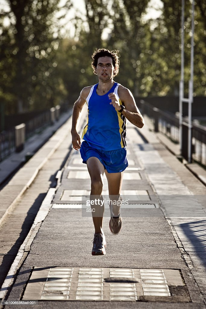 Male athlete running : Foto stock