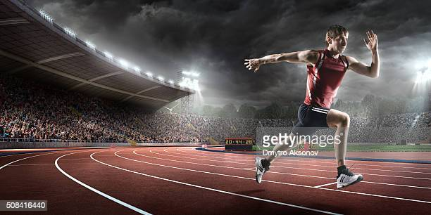 Mâle athlète Sprint
