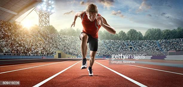 Atleta masculino esprint