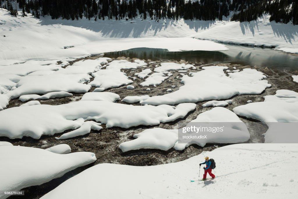 Male Backcountry Ski Touring : Stock Photo