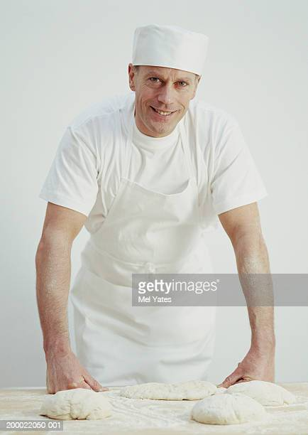 Male baker, smiling, portrait