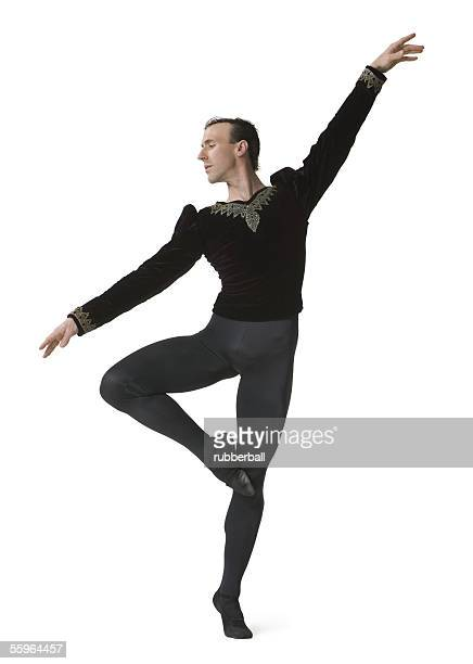 Male ballet dancer performing ballet